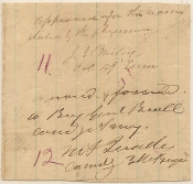 Quarles, William wartime autograph endorsement
