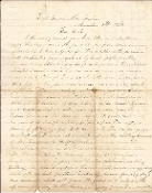 11th Missouri Cavalry soldier's letter/ Fort Union, New Mexico