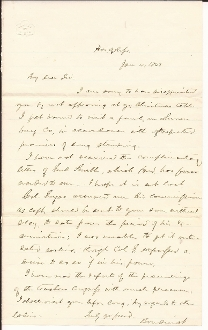 Boudinot, Elias (Cherokee Indian leader) autographed letter