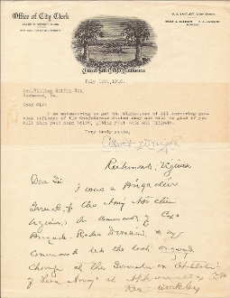 Cox, William autograph letter signed