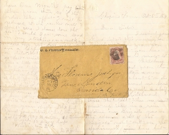 16th New York Heavy Artillery letter/ Battle of Chaffin's Farm