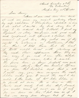 2nd Virginia Regiment Infantry soldier's letter/ Harpers Ferry