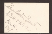 Smith, Thomas Benton autograph
