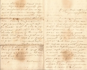 3rd South Carolina Battn Infantry soldier's letter/ Virginia