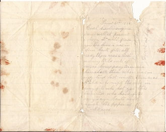 49th Pennsylvania Infantry soldier's letter/ Cold Harbor, VA