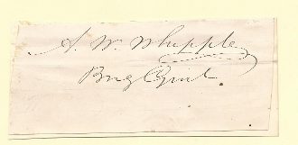Whipple, Amiel war time autograph/ MWIA