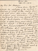 Johnston, Robert Autograph Letter Signed/ Birmingham, Alabama
