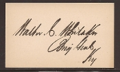 Whitaker, Walter autograph