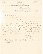 Tappan, James autographed letter