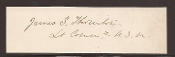Thornton, James autograph/ USS Kearsarge