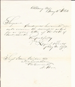 Beall, Lloyd autographed letter/ CSA Marine Corps