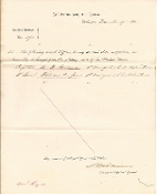 Williams, Seth autographed document/ 67th New York Infantry