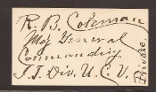 Coleman Richard autograph, Indian Territory