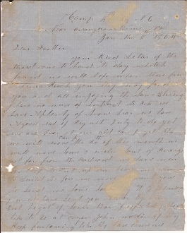 46th North Carolina Infantry soldier's letter/ Orange C.H., VA