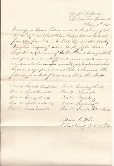 15th Pennsylvania Cavalry document/ Tennessee