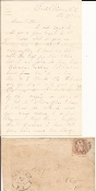 4th New Hampshire Infantry soldier's letter/ Fort Fisher, NC