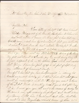 U.S. Signal Corps soldier's letter/ Mobile Bay. Alabama