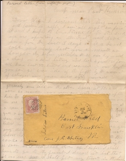 8th Vermont Infantry soldier's letter/ Battle of Port Hudson