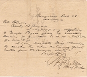 Dana, Napoleon autographed letter/ Brownsville, Texas