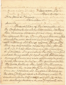 Waul, Thomas autographed letter pertaining to  Wade Hampton