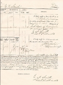 2nd North Carolina Infantry (Union) document/ Ft. Fisher