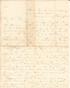 30th Iowa Infantry soldier's letter/ Vicksburg