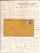 3rd Minnesota Infantry soldier's letter with cover