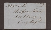 Fauntleroy, Thomas autograph as Colonel 1st US Dragoons