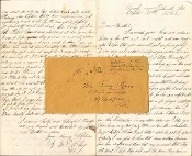 114th Pennsylvania Infantry (Collis Zouaves) soldier's letter