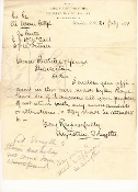 Smythe, Augustine, autographed letter/ CSA Balloonist & Spy
